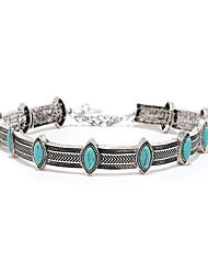 baratos -Mulheres Azul Geométrico Colar Na moda Legal Prata 30 cm Colar Jóias 1pç Para Diário