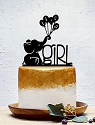 Недорогие -Украшения для торта Классика / Креатив / Новорожденный Художественные / Ретро / Уникальный дизайн Акрил День рождения с Однотонные 1 pcs Пенополиуретан