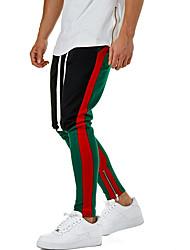 abordables -Hombre Chic de Calle Chinos Pantalones - Multicolor Negro