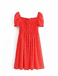 ieftine -femele de sus genunchi subțire teaca rochie pătrate gât roșu s m l