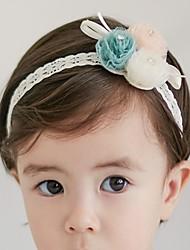 זול -מידה אחת לבן אביזרי שיער שיפון קולור בלוק פעיל בנות פעוטות