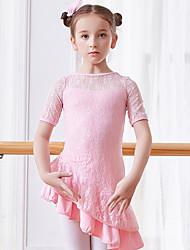 economico -Abbigliamento da ballo per bambini / Danza classica Vestiti Da ragazza Addestramento / Prestazioni Cotone Di pizzo / Più materiali Manica corta Naturale Abito