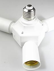 economico -1pc Da E27 a 3 + 1 E27 E26 / E27 100-240 V Convertitore Plastica Presa lampadina