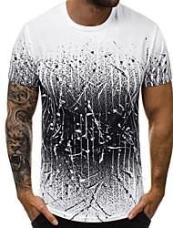cheap -Men's T-shirt - Color Block White XL