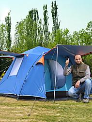 Недорогие -6 человек Семейный кемпинг-палатка На открытом воздухе С защитой от ветра Дожденепроницаемый Воздухопроницаемость Однослойный Карниза Палатка 2000-3000 mm для