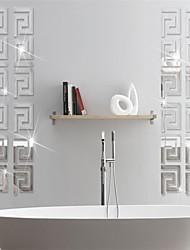 Недорогие -Декоративные наклейки на стены - Зеркальные стикеры Абстракция / Геометрия В помещении