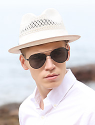 Χαμηλού Κόστους -Άχυρο Ψάθινα καπέλα με Μονόχρωμο 1 τμχ Γενέθλια / Belmont Stakes Headpiece