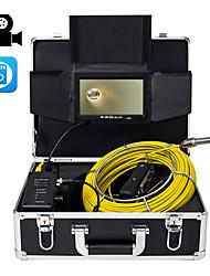 Недорогие -23 мм объектив промышленного эндоскопа 40 м рабочая длина авторемонт осмотр трубопровода ремонт 7-дюймовый дисплей с видеокамерой