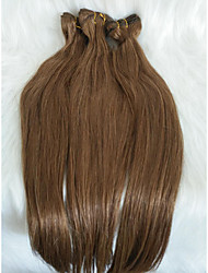 ieftine -Păr de Împletit  Drept Extensii Păr Natural 1 Bucată păr Trese Maro 18 inch 18 inch Petrecere / Extention Festival Păr Mongol