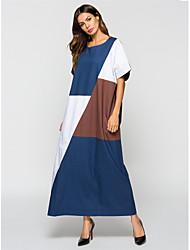 ieftine -femeie maxi vrac rochie abia rochie albastru m l xl xxl
