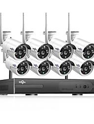 Недорогие -Hiseeu POEKIT-8HB612 HD 8CH NVR 1080P POE CCTV camera System Kit 2MP Outdoor Waterproof IP Camera POE home security Video Surveillance set Hiseeu 20 mp IP-камера на открытом воздухе Поддержка