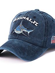 رخيصةأون -كل الفصول أزرق البحرية أزرق فاتح كاكي قبعة البيسبول قبعة شمسية ألوان متناوبة للجنسين قطن بوليستر,أساسي