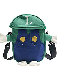 cheap -Women's Bags Canvas Crossbody Bag Character Green / Red
