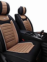 Недорогие -подушки сиденья автомобиля полиэстер ткань универсальные моторы для автомобилей защищают переднее сиденье черный / фиолетовый / черный / коричневый / черный / красный