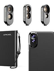 Недорогие -Объектив для мобильного телефона Объектив фиш-ай / Длиннофокусный объектив / Широкоугольный объектив стекло / ABS + PC 2X 10 mm 0.01 m 180 ° Линза / объектив в чехле