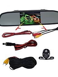 Недорогие -BYNCG WG4.3 4.3 дюймовый TFT-LCD 480TVL 480 ТВ линий 1/4 дюйма CMOS OV7950 Проводное 120° 1 pcs 120 ° 4.3 дюймовый Камера заднего вида / Автомобильный реверсивный монитор / Дисплей заголовка