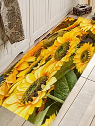 hesapli -1pc Günlük / Ülke Banyo Paspasları Mercan velvi Çiçek Desenli 5mm Banyo Sevimli / Temizlemesi kolay