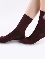 billige -Kvinder / mænds bomuld varme sexede sokker 680d