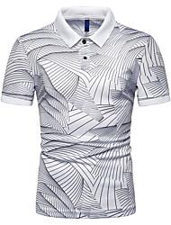 voordelige -Heren T-shirt Kleurenblok Wit XL