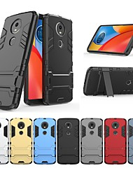 cheap -Case For Motorola MOTO E4 Shockproof / with Stand Back Cover Solid Colored / Armor Hard PC for Moto E5 Plus