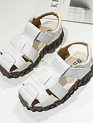billige -Drenge Sko PU Sommer Komfort Sandaler for Børn Hvid / Sort / Gul