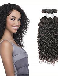 저렴한 -3 개 묶음 브라질리언 헤어 물결 미처리 인모 인간의 머리 직조 인모 연장 위브 8-28 inch 자연 색상 인간의 머리 되죠 코스프레 소프트 최고의 품질 인간의 머리카락 확장 여성용