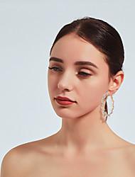 baratos -Mulheres Pérola Clássico Brincos em Argola Imitações de Diamante Brincos Fashion Jóias Dourado Para Diário Festival 1 par
