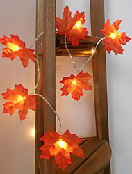 Недорогие -1 компл. 10 светодиодов строка светло-красный кленовый лист реквизит кленовый лист ночной свет благодарения праздник украшения дома аккумулятор коробка