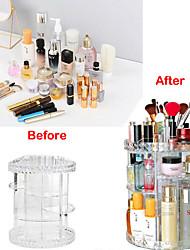 billige -opbevaring organisation kosmetisk makeup organizer pmma uregelmæssig form afdækket / tredobbelt lag