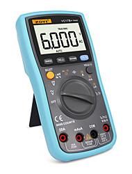 halpa -todellinen rms digitaalinen yleismittari 6000counts automaattinen / manuaalinen alue ac / dc ampeerimittari voltmetri ohm kapasitanssi lämpötila diodi testeri vc17b