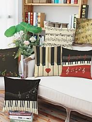 Недорогие -1 штук Хлопок / Лён Наволочка, 3D-печати Буквы и цифры Мода Modern Бросить подушку