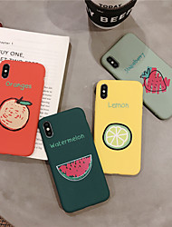 Недорогие -Кейс для Назначение Apple iPhone XS / iPhone XR / iPhone XS Max С узором Кейс на заднюю панель Продукты питания / Мультипликация Мягкий ТПУ