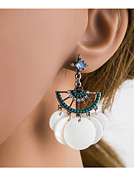 cheap -Women's Multicolor Cubic Zirconia Hollow Out Drop Earrings Shell S925 Sterling Silver Earrings Ethnic Jewelry Silver For Daily 1 Pair