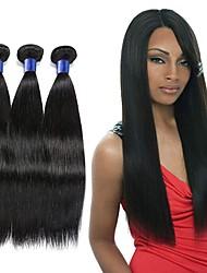 voordelige -3 bundels Indiaas haar Recht Mensen Remy Haar Menselijk haar weeft Verlenging Bundle Hair 8-28 inch Natuurlijke Kleur Menselijk haar weeft Geurvrij Modieus Design Zacht Extensions van echt haar Dames