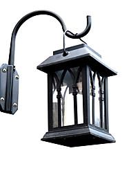 billige -1pc 0.2 W Lawn Lights / Udendørs Væglamper / Led Street Light Solar Gul 1.2 V Udendørsbelysning / Gårdsplads / Have LED Perler