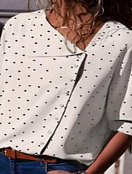 baratos -Mulheres Blusa Poá Branco XL