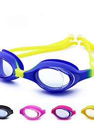 Недорогие -плавательные очки Водонепроницаемость Компактность Противо-туманное покрытие силиконовый Резина Поликарбонат желтый розовый синий