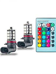 Недорогие -1 шт. H7 / h4 / 9005 автомобильные лампочки smd 5050 светодиодные противотуманные фары многоцветный преобразование светодиодный свет с дистанционным управлением