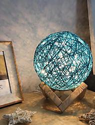 Недорогие -творческий светодиодный шар из ротанга ночник управления проекционная лампа настольный свет USB зарядка