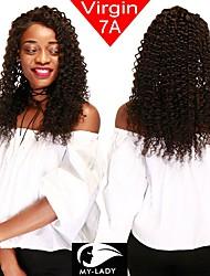 Недорогие -4 Связки Бразильские волосы Крупные кудри человеческие волосы Remy Человека ткет Волосы Пучок волос Накладки из натуральных волос 8-28 дюймовый Естественный цвет Ткет человеческих волос