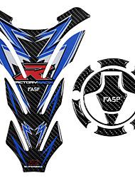 billige -5d carbon fiber motorcykel brændstof gas tank pad cap decals gas cap klistermærke til kawasaki ninja250 ninja300 z250 z250sl ex300r