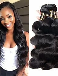 olcso -3 csomag Brazil haj Hullámos haj Kémiai anyagoktól mentes / nyers Az emberi haj sző Bundle Hair Egy Pack Solution 8-28 hüvelyk Természetes szín Emberi haj sző Szagmentes Legjobb minőség Hot eladó