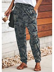 お買い得  -女性用 スポーティー / ストリートファッション ハーレム / スウェットパンツ パンツ - パターン柄 レインボー