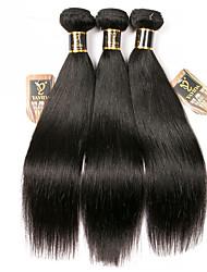 olcso -3 csomag Brazil haj Egyenes 100% Remy hajszövési csomó Az emberi haj sző Bundle Hair Egy Pack Solution 8-28 hüvelyk Természetes szín Emberi haj sző Szagmentes Sima Legjobb minőség Human Hair