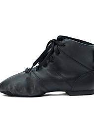 olcso -Női Tánccipők Disznóbőr Csizmák Lapos Dance Shoes Fekete