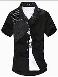 お買い得  -男性用 シャツ カラーブロック ホワイト XL