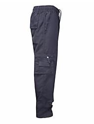abordables -Hombre Chic de Calle Chinos Pantalones - Un Color Gris