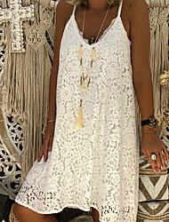 Недорогие -Жен. А-силуэт Платье На бретелях До колена