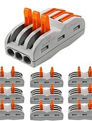 Недорогие -zdm® 10шт 3-полосная лампа для аксессуаров& металлический электрический разъем для светодиодной ленты