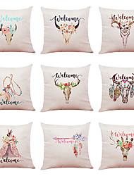 저렴한 -9 꽃 자전거 린넨 쿠션 커버 홈 오피스 소파 사각형 베개 케이스 장식 쿠션 커버 pillowcases (18 * 18inch) 세트